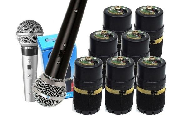 Kit 7 Cápsulas Para Microfone Le Son Sm58- Melhor Qualidade!