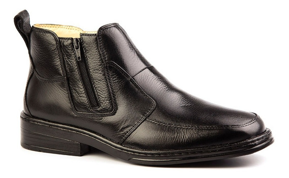 Botina Masculina 916 Em Couro Floater Preto Doctor Shoes