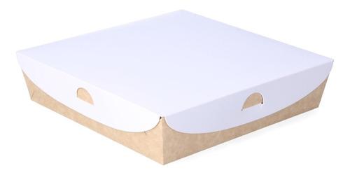 50 Cajas Sushi Base Tapa Separador 17,5x24x4,5 Compostables