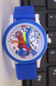 Relógio Infantil Do Homem Aranha Azul Lindo Oferta C308