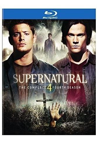 Blu-ray Supernatural 4ª Quarta Temporada 4 Discos C/ Luva