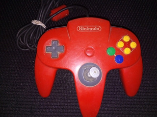 Control Rojo Usado Ver Palanca Nintendo 64 N64