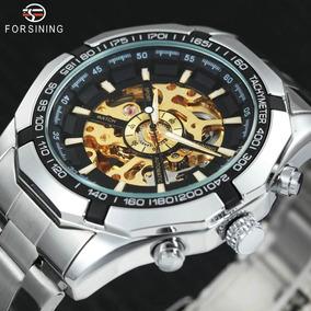 Relógio Masculino Prata Automático Barato Winner Original