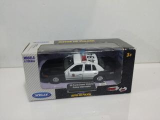 Jugete Auto Policia Colección Welly Mini