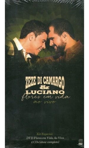 Box 01 Dvd 02 Cds Zezé Di Camargo E Luciano Flores Em Vida