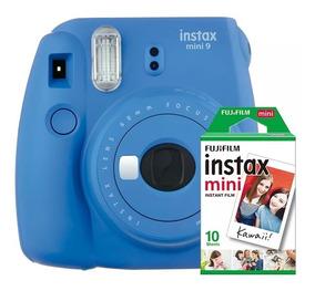 Câmera Instantânea Instax Fujifilm Mini 9 Cobalto+filme 10