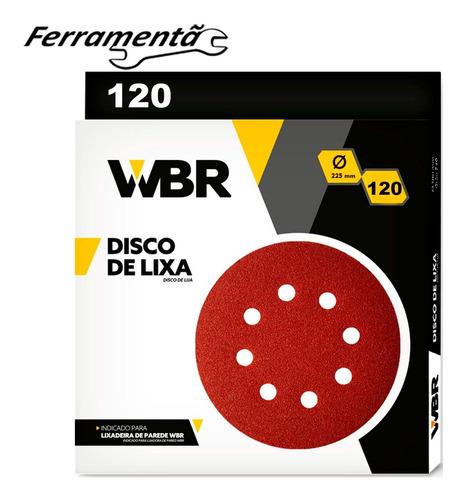 Imagem 1 de 4 de Disco Lixa 225mm Lixadeira De Teto C/10 Un Original Wbr 120