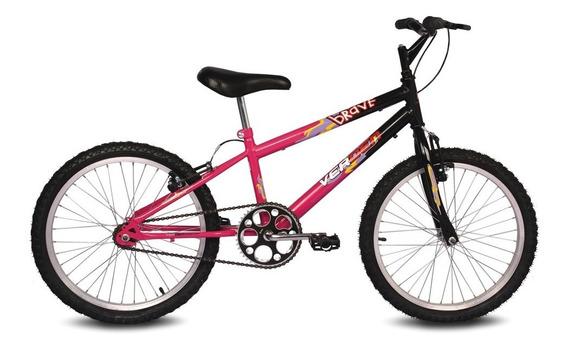 Bicicleta Brave - Aro 20 - Preto E Pink - Verden Bikes