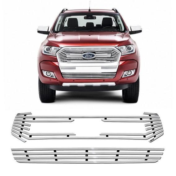 Sobre Grade Ford Ranger 2017 A 2019 Aço Inox Polido Elite