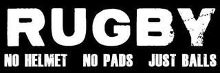 Rugby No Casco No Pads Sólo Bolas Etiqueta De Parachoque
