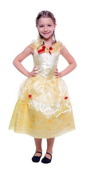 Vestido De Princesa Infantil A Bela E A Fera 2 A 12 Anos