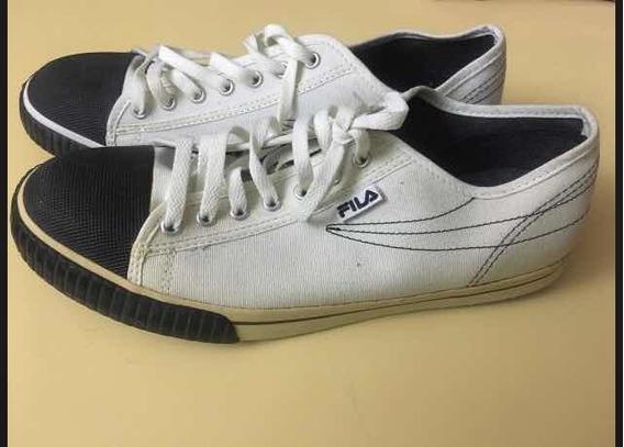 Zapatillas Lona Blancas Fila Como Nuevas!!sin Uso N 42