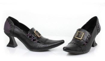 Zapatos Victorianos De Bruja Negros Para Damas 3