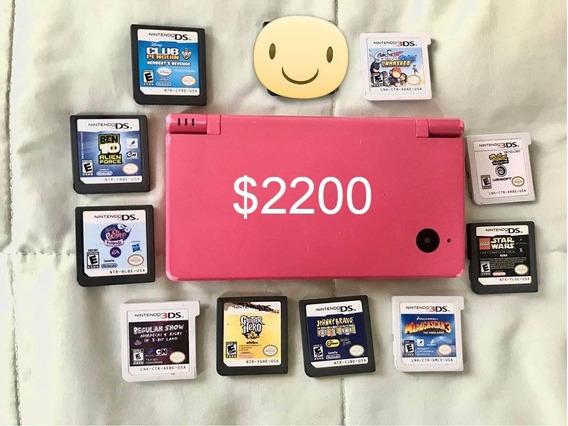 Nintendo Dsi Rosa-nintendo Dsi System Pink Y Juegos