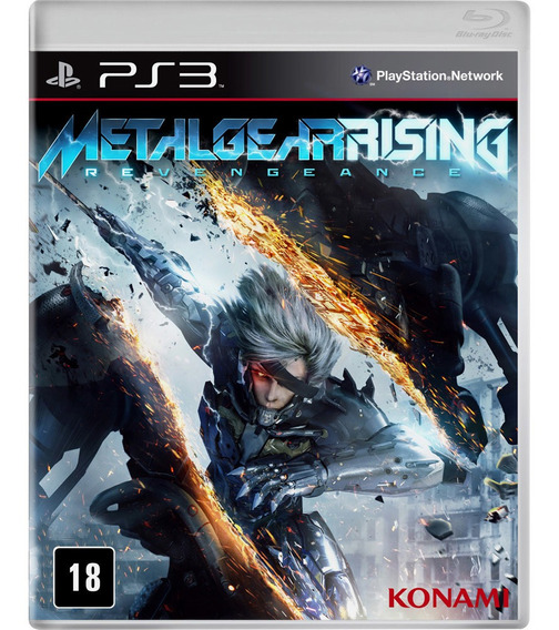 Jogo Novo Midia Fisica Metal Gear Rising Revengeance Pra Ps3