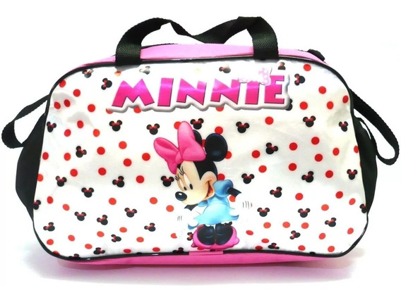 Bolsa Infantil Sacola Viagem Criança Minnie Mouse Branca F2