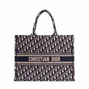 Bolsa Dior Book Tote Bordada Azul - Pronta Entrega