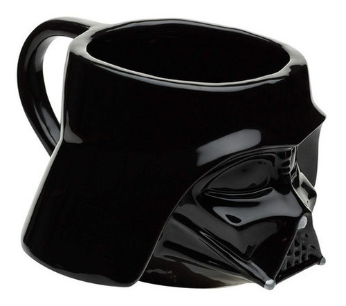 Imagen 1 de 9 de Taza Café Darth Vader Star Wars Disney Cerámica 3d 473ml