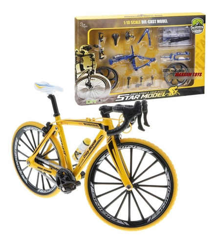 Kit Bicicleta De Carrera En Metal Para Armar Diecast 1:10