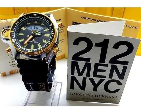 Promoção Relógio Citizen Aqualand + Brinde Perfume 212