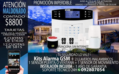 Imagen 1 de 1 de Alarma Inalambrica Gsm, Oferta Maldonado Instalada