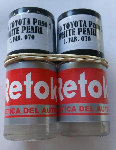 Pintura Retok Toyota Blanco White Pearl C.fabr. 070 Tricapa