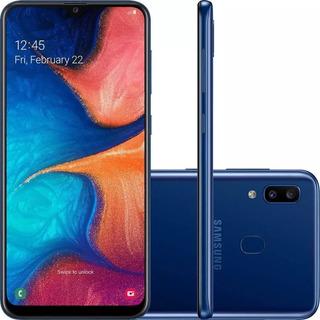 Celular Samsung A20 Azul 32gb 6.4