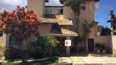 Belíssima Casa Com 04 Suítes Em Condomínio Fechado Na Glória - Ca0180