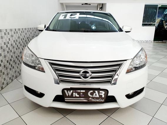 Nissan Sentra Sl 2.0 16v Flex 2015 Branco Top De Linha