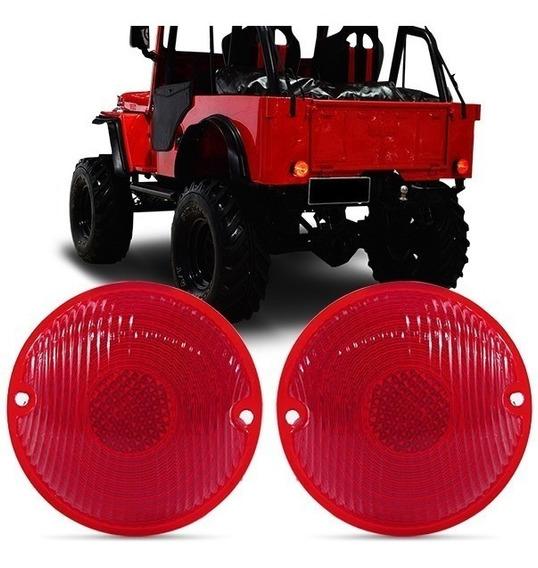 Par Lente Lanterna Traseira Do Jeep Willys Valor Do Par