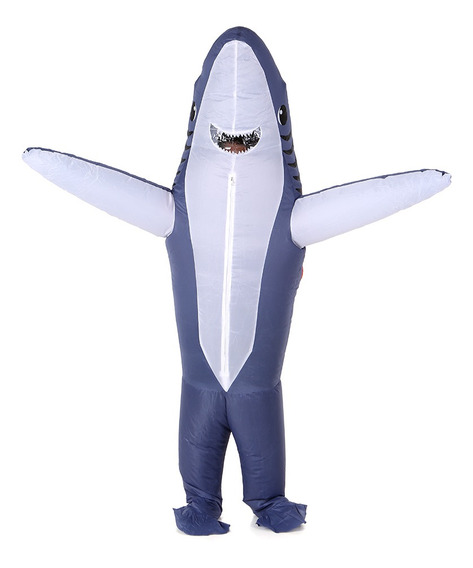 Soportes Inflables De Disfraces De Tiburón Gris De Adultos E