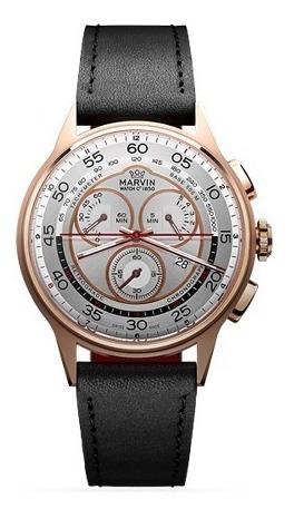 Reloj Marvin Rose Gold Retrograde Chronograph Eta G15