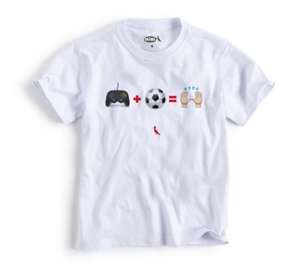 Camiseta Mini Futebol + Videogame Reserva Mini
