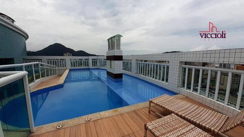 Apartamento Com 1 Dormitório À Venda, 38 M² Por R$ 205.000,00 - Boqueirão - Praia Grande/sp - Ap2136