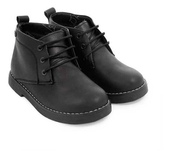 Bota Botita Zapato Escolar Cuero Niñ@ Moda Urbana Cordones