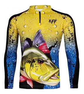 Camiseta De Pesca King Proteção Solar 50+ ( Vários Modelos )