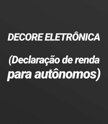 Decore Eletrônica (declaração De Renda Para Autônomos)