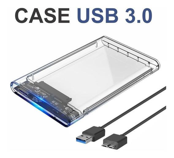 Kit 02 Case Slim Hd 2,5 Usb 3.0 Sata Hdd Ssd Gaveta Note