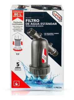 Filtro De Agua Iusa 80l/min Discos, Entrada Y Salida De 3/4