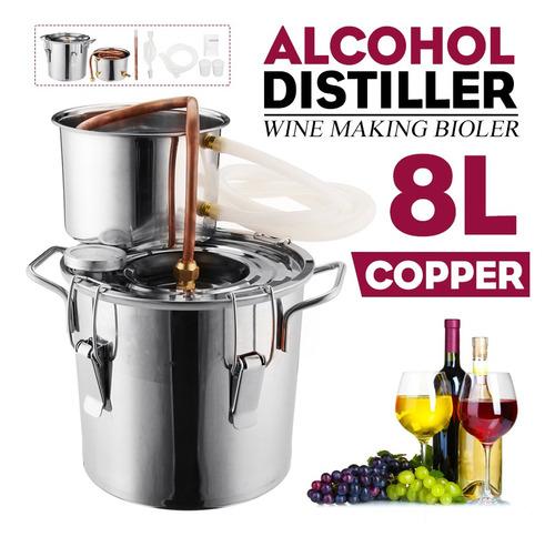 8l Alcohol Agua Destilador De Cobre Vino De La Herramienta D