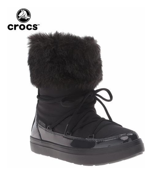 Crocs Originales Lodgepoint Lace Boot Black Botas Negras