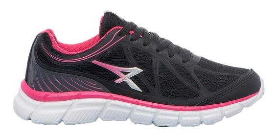 Athix Zapatillas Running Mujer Line Negro- Gris-rosa