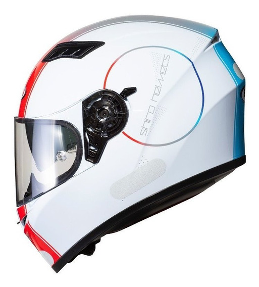 Capacete Moto Motociclista Com Oculos Interno Sol Shiro Sh 600 Robotic White
