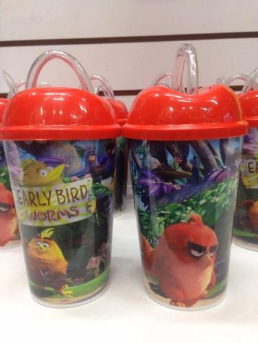 Vaso Pitillo Angry Bird Sorpresa Decoración Fiesta Piñata