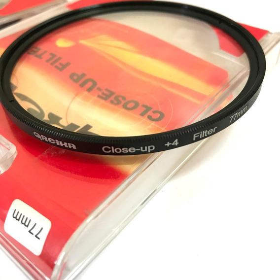Filtro Close Up 77mm +4 Greika Close Up Fotografia Macro