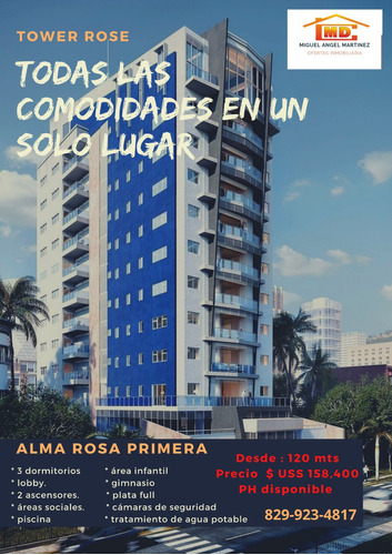 Torre En Construcción En Alma Rosa Primera