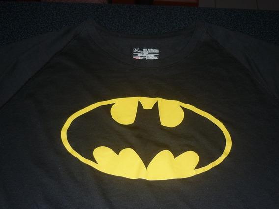 Espectacular!! Remera Orig. Under Armour Batman Black Xxl