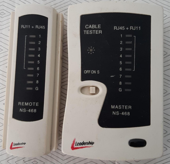 Network Cable Tester Rj45 And Rj11 (testador De Cabo)