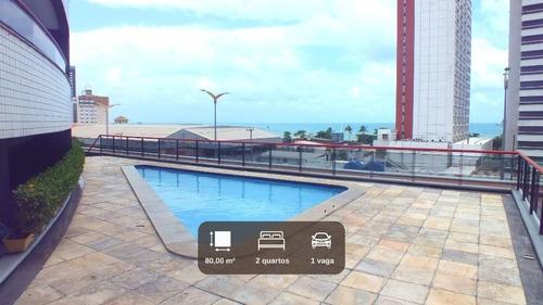 Imagem 1 de 14 de Ap554- Aluga Apartamento Mobiliado No Meireles Com Vista Para O Mar. - Ap0289