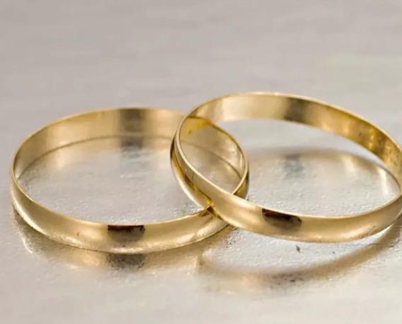 Par Alianças Ouro 18k/750 2,5mm Abaulada Noivado Casamento
